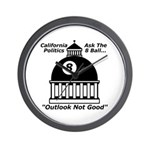 8 Ball Politics Wall Clock