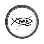 Fish/War Wall Clock