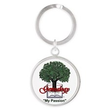 My Passion Round Keychain