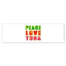 Peace Love Tuba Bumper Sticker