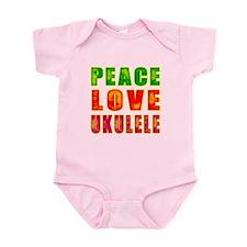 Peace Love Ukulele Infant Bodysuit