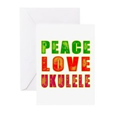 Peace Love Ukulele Greeting Cards (Pk of 10)