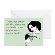 Detriment To Your Health Greeting Card