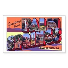 Palm Springs California Greetings Decal