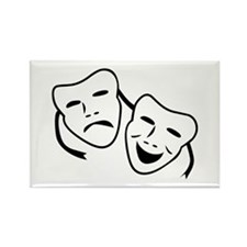 Comedy & Tragedy Mask Rectangle Magnet