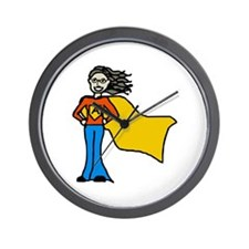 Cute Supergirl Wall Clock