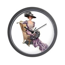 Victorian Lady Harrison Fisher Elegant Wall Clock