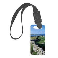 Dry Stone Wall and Bay Small Luggage Tag