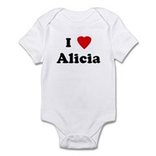 I Love Alicia Infant Bodysuit