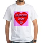 Beat Breast Cancer Live! Love White T-Shirt