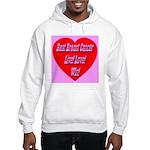 Beat Breast Cancer Live! Love Hooded Sweatshirt