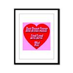 Beat Breast Cancer Live! Love Framed Panel Print