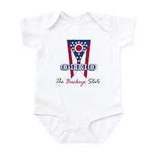 Ohio - The BUCKEYE State Infant Creeper