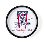 Ohio - The BUCKEYE State Wall Clock