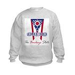 Ohio - The BUCKEYE State Kids Sweatshirt