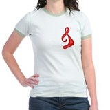 """Red Ribbon Twist"" T"