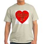 Beat Breast Cancer Live! Love Ash Grey T-Shirt