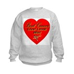 Beat Breast Cancer Live! Love Kids Sweatshirt