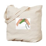 &quot;Knitting hands&quot; Tote Bag