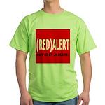 RED ALERT STOP AIDS Green T-Shirt