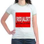 RED ALERT STOP AIDS Jr. Ringer T-Shirt