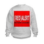 RED ALERT STOP AIDS Kids Sweatshirt