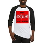 RED ALERT STOP HIV-AIDS Baseball Jersey
