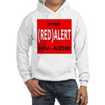 RED ALERT STOP HIV-AIDS Hooded Sweatshirt