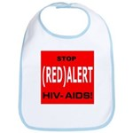 RED ALERT STOP HIV-AIDS Bib