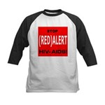 RED ALERT STOP HIV-AIDS Kids Baseball Jersey