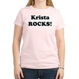 Krista Rocks! Women's Pink T-Shirt