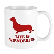 Life Is Wienderful Small Mugs