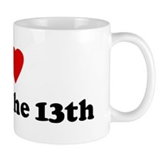I Love Friday the 13th Mug