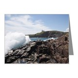 Waves crashing on rocks at c Note Cards (Pk of 20)