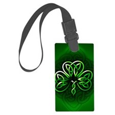 Celtic clover Luggage Tag