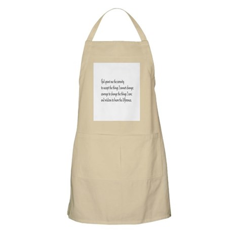Serenity Prayer BBQ Apron