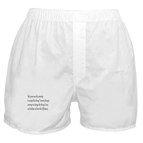 Serenity Prayer Boxer Shorts