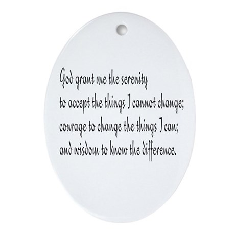 Serenity Prayer Oval Ornament