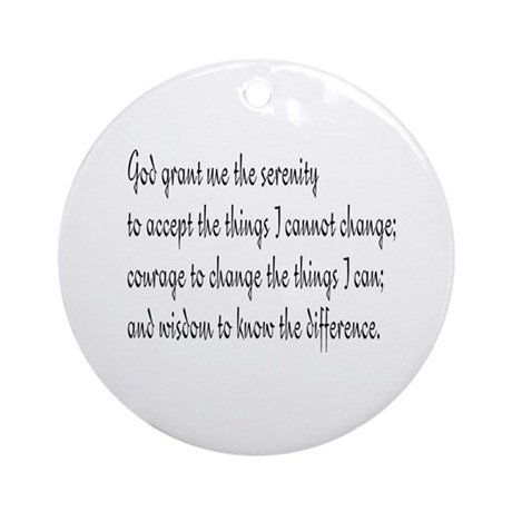 Serenity Prayer Ornament (Round)
