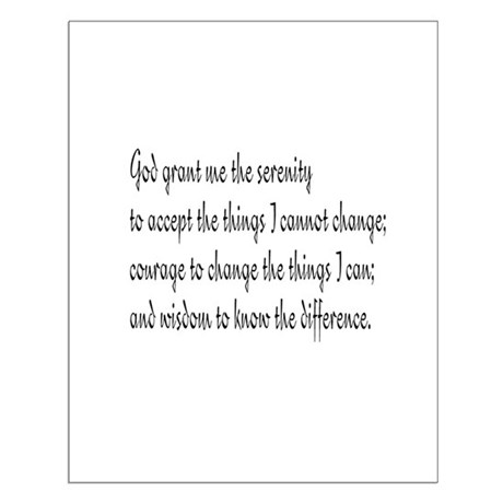 Serenity Prayer Small Poster