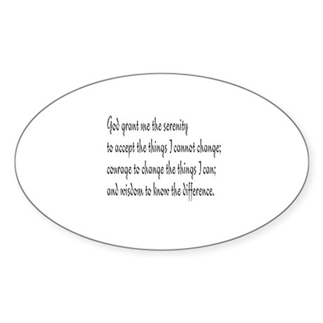 Serenity Prayer Oval Sticker