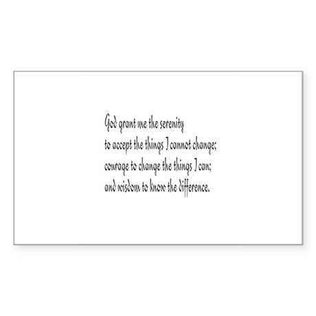 Serenity Prayer Rectangle Sticker