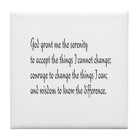 Serenity Prayer Tile Coaster
