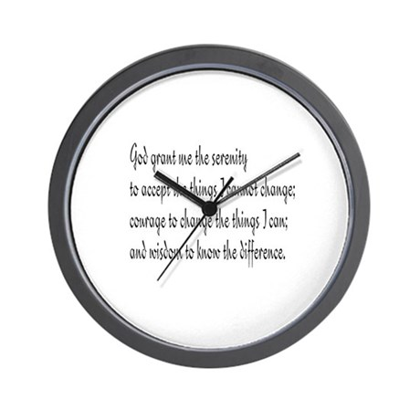 Serenity Prayer Wall Clock