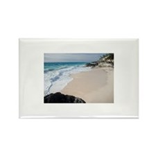 Waves crashing on beach Rectangle Magnet (10 pack)