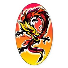 Dragon surrounded by flames Decal