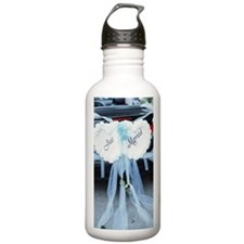 'Just Married' sign on Water Bottle