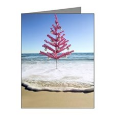 Artificial christmas tree on Note Cards (Pk of 10)