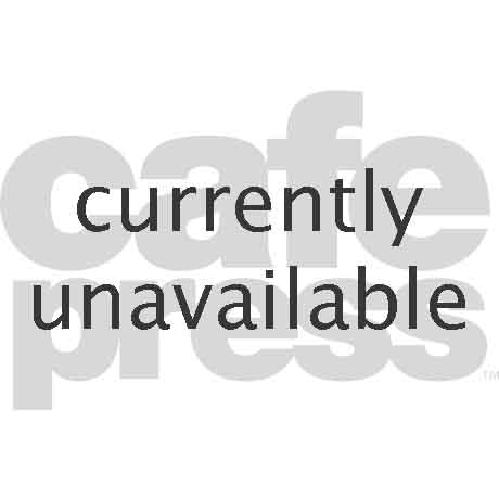 Dog leaning on cage 20x12 Oval Wall Decal