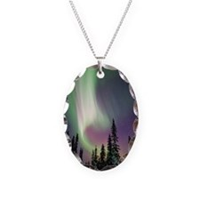 Aurora borealis and snow cover Necklace